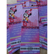 Invitaciones Tarjetas Ticket Vip Personalizadas