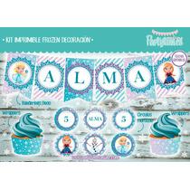 Kit Imprimible Frozen Decoración Cumpleaños Invitaciones