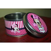 Latas Souvenirs Minnie Mickey 15 Años Comunión Bautismo 10 U