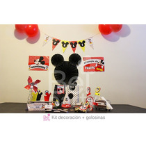 Kit Imprimible Mickey Candy Bar Cumpleaños