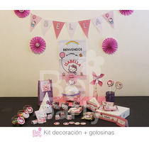 Kit Imprimible Kitty Candy Bar Cumpleaños