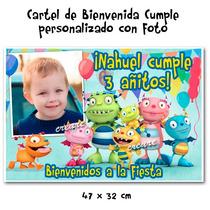 Pocoyo Cartel De Cumpleaños Personalizado Con Tu Foto Nombre