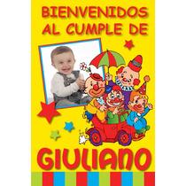 Bienvenidos/feliz Cumple C/foto.cartel Personalizado Oferta!