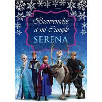 Frozen Cartel Bienvenida Cumpleaños Personalizado