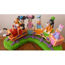 Tren Mickey Minnie Pluto Daisy Souvenir Adorno