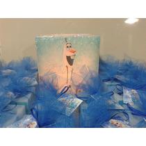 Frozen Souvenirs En Vela,perfumados ,personalizados,6x6cm