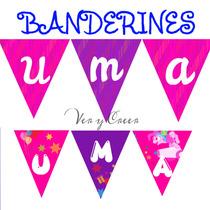 Banderines Personalizados Para Decorar Infantiles