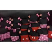 10 Souvenirs Almohadones Porta Pijama Mickey Y Minnie