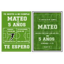 Invitaciones Personalizadas Futbol