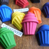 Crayones - Souvenirs - Cupcakes - Cumpleaños - Pack X 24 Un.