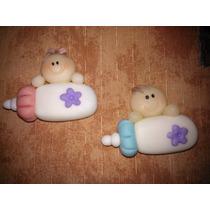 Souvenir Baby Shower, Bautismo, Mamaderas En Porcelana Fria
