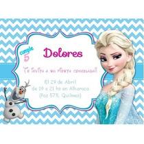 Invitaciones Frozen, Shabby Chic Cumpleaños,