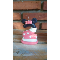 Velita Minnie En Porcelana Fría- Torta Cumpleaños