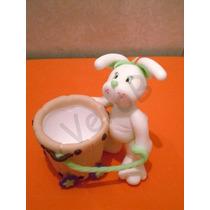 Souvenirs Para Pascuas Y Cumpleaños. Conejito Porcelana Fria
