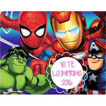 Kit Imprimible Escuadron De Super Heroes+candy Ytli2016