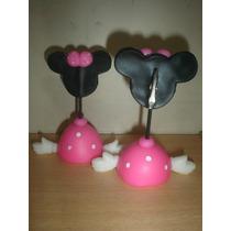 20 Minnie O Mickey Portafoto Souvenir Porcelana Fria!!!