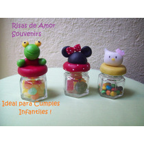 Souvenirs Frascos Decorados Sapo Pepe,mickey,kitty, Etc...!!