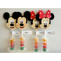 Mickey Y Minnie Souvenirs En Goma Eva Con Mogul