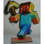 15 Minecraft Souvenirs + Central Fibrofacil Minicraft Steve