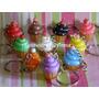 Cupcakes Hermosos Llaveros En Porcelana Fria !!