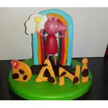 Peppa Pig Para Torta En Porcelana Fria Souvenirs