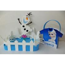 Centro De Mesa + Bolsita De Frozen - Personalizados
