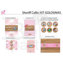Kit Imprimible Sheriff Callie Candy Bar Cumpleaños