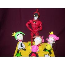 Los Padrinos Mágicos Barbilla Roja Adornos Para Tortas