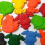 Crayones - Souvenirs - Granja: Vaca, Pollo, Perro , Gato X24