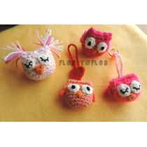 Mini Buhito Lechuza Tejido Crochet Colgante Llavero Souvenir