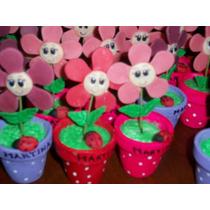 Souvenirs Cumpleaños, Primer Añito, Flor En Macetita Hermos