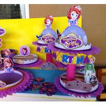Centro De Mesa Infantil . Princ.sofia-minnie-monster- Mickey