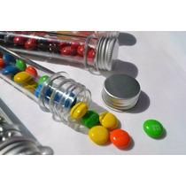 Tubos De Ensayo Plástico Vacios Con Tapa De Aluminio 15cm