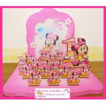 Souvenir Mdf Mini-mikey-pepa-sofia-princesas-personajes X 20