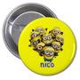 10 Pins Souvenirs Minions Infantiles Personalizado,55mm