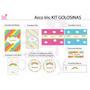 Kit Imprimible Arco Iris Candy Bar Cumpleaños