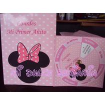 Tarjetas De Invitaciones X 10 Unidades Minnie