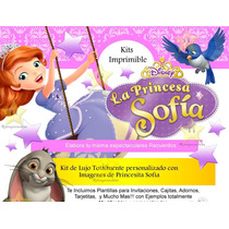 Kit Imprimible Princesa Sofia Incluye Candy
