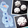 Cumple Temático Frozen Tiza Copo De Nieve Elsa S/ Pizarrón