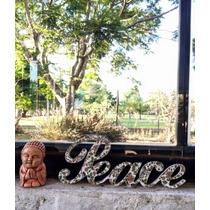 Peace Letras Corpórea Shabby Chic