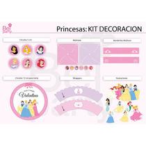 Kit Imprimible Princesas Candy Bar Cumpleaños