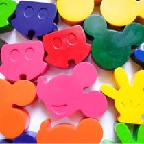 Crayones - Souvenirs - Mickey - Cumpleaños - Pack X 24