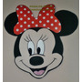 10 Caritas Minnie Souvenirs + Cartel Pared Goma Eva