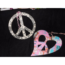 Símbolo De La Paz Corazón Grande Colgar Regalo Enamorados