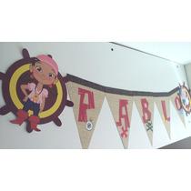 Banderines Personalizados Jake Y Los Piratas Sakura
