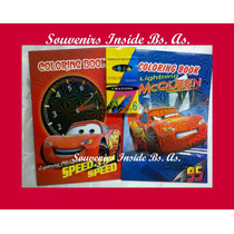 Libros Pintar 6 Crayones Souvenir Regalo Princesa Sofia Cars