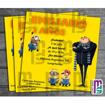 Minions Kit Imprimible Personalizado Candy Bar Cumple Niño