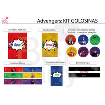 Kit Imprimible Avengers Candy Bar Cumpleaños