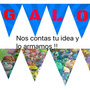 Banderines Personalizados Por Letra Cumpleaños Decoracion