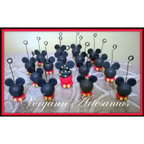 Souvenirs Portamensaje Portafoto Porcelana Fría Mickey X10 U